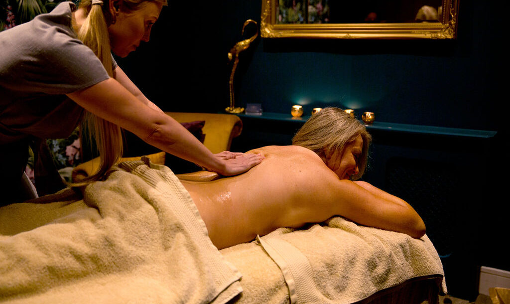 therapist performing a massage at Eden Beauty & Aesthetics Southend
