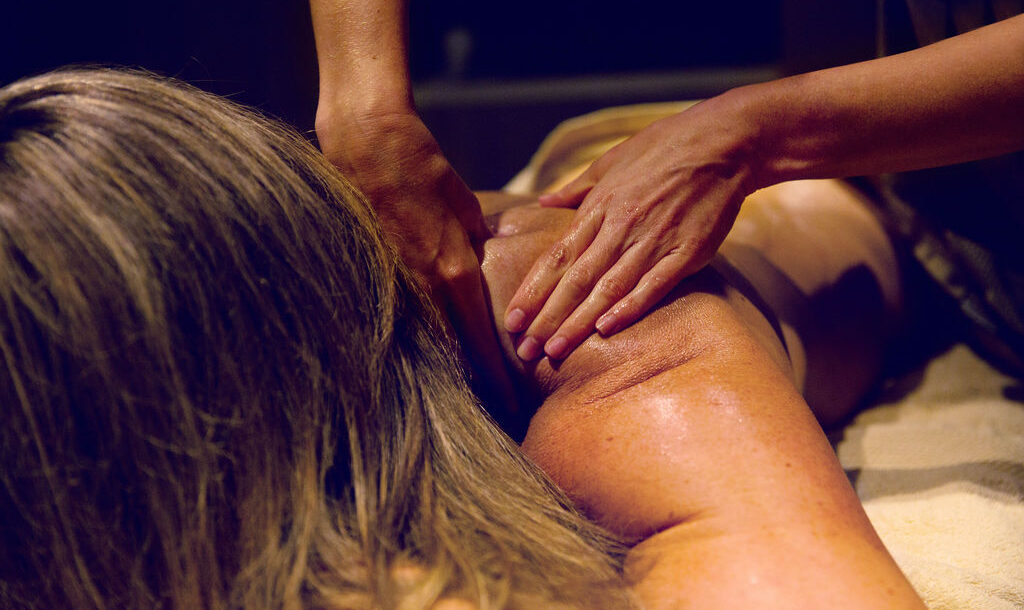 woman enjoying a massage at Eden Beauty and Aesthetics Southend